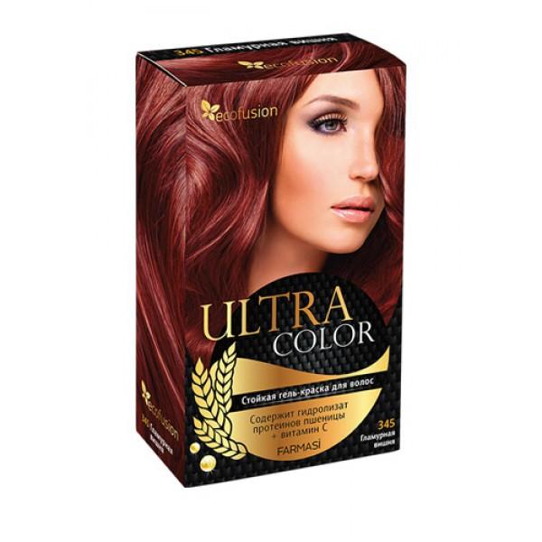 Cтойкая гель-краска для волос Ultra Color, 345 Гламурная вишня ✿ Ecofusion ✿ 100% Оригинал